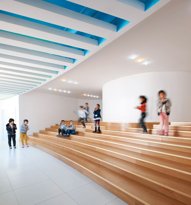 Уникальное здание детского сада «Loop» городе Тяньцзинь, Китай