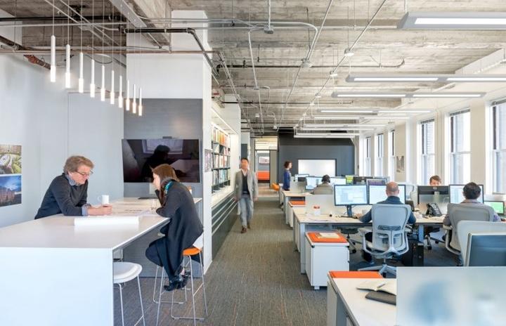 Необычный дизайн офиса компании M Moser Associates в Сан-Франциско