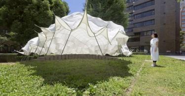 Японский минимализм в дизайне помещения необычного павильона