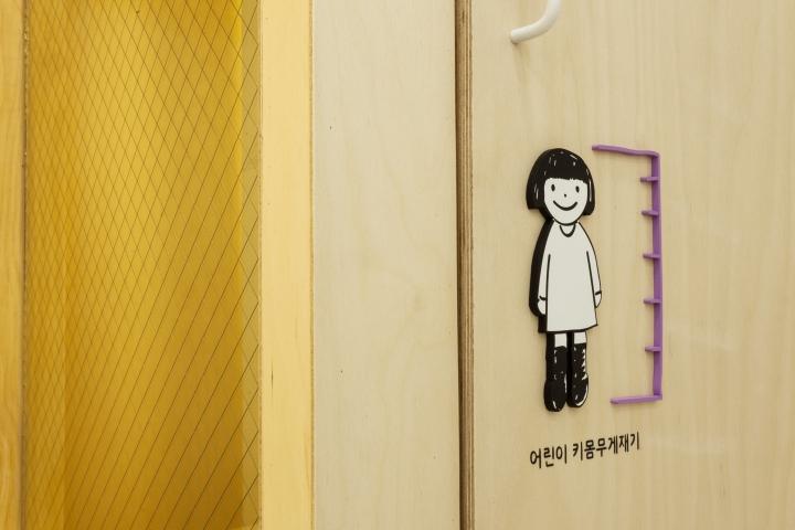 Интерьер педиатрической клиники Moon в Корее