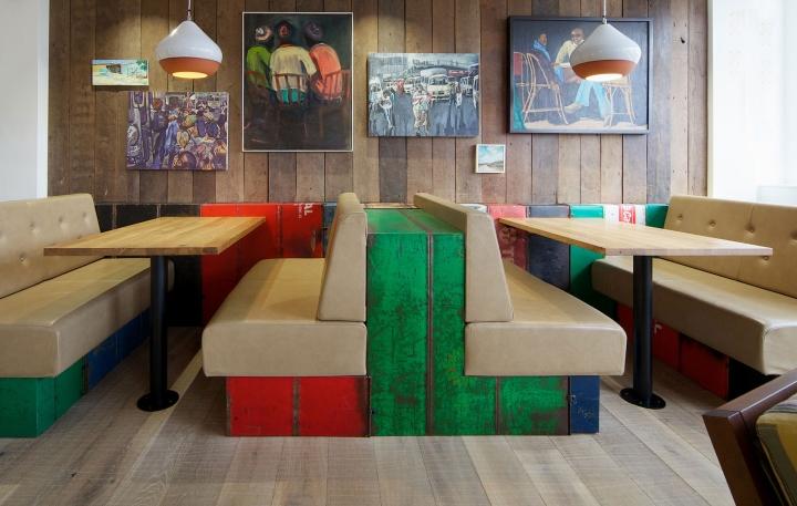Небольшой офис Nando`s от дизайнеров Oktra в Лондоне, Великобритания