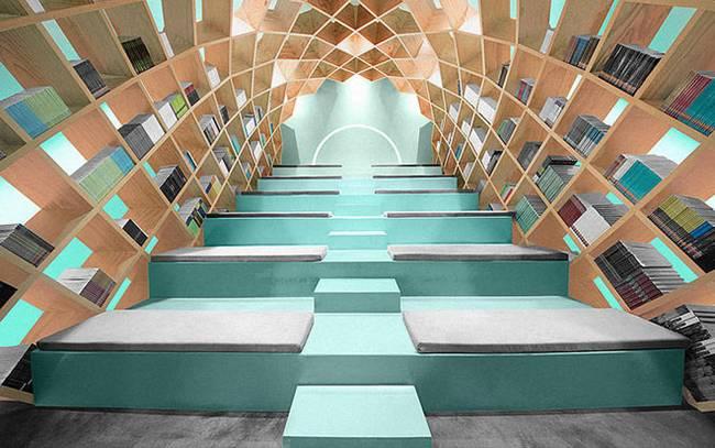 Необычная библиотека: внутреннее пространство