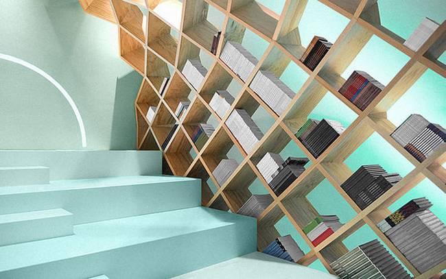 Необычная библиотека: оригинальные книжные полки