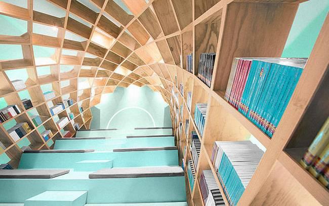 Необычная библиотека: книги, как элемент декора