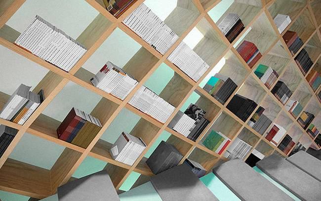 Необычная библиотека: иллюзия наклона