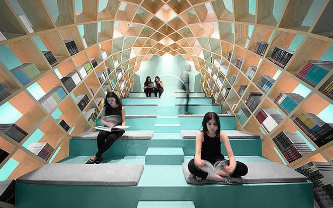 Необычная библиотека в Мексике