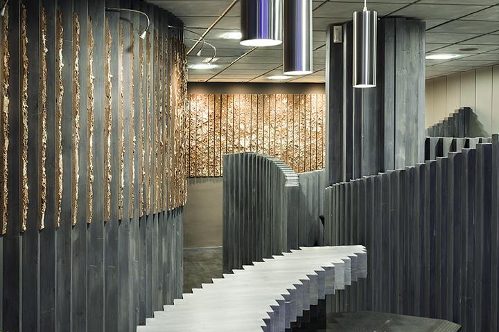 Необычный интерьер офиса в индустриальном стиле в Испании