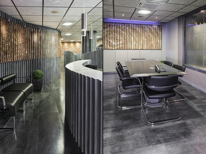 Необычный интерьер офиса в индустриальном стиле в Испании: холодная палитра в дизайне
