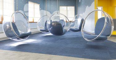 Необычный интерьер школы создала компания Taktik Design для учебного заведения в Монреале