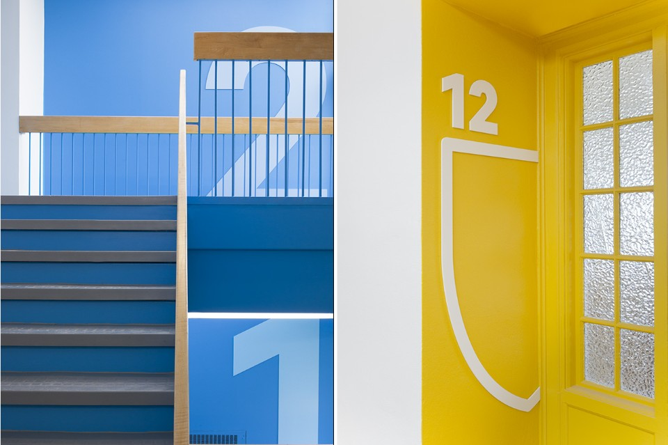 Необычный интерьер школы: яркий дизайн коридора