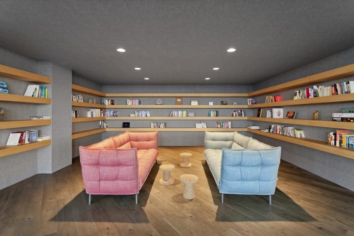 Интересный интерьер и декор офиса: уютная библиотека