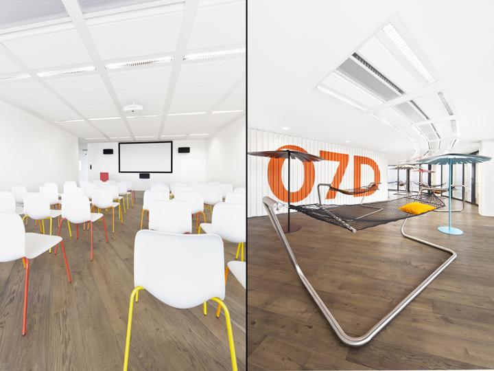 Интересный интерьер и декор офиса в белом цвете