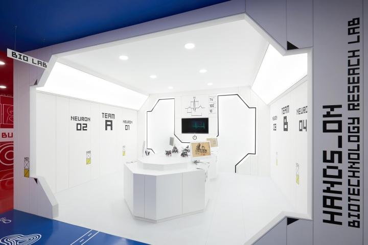 Дизайн центра в стиле конструктора LEGO