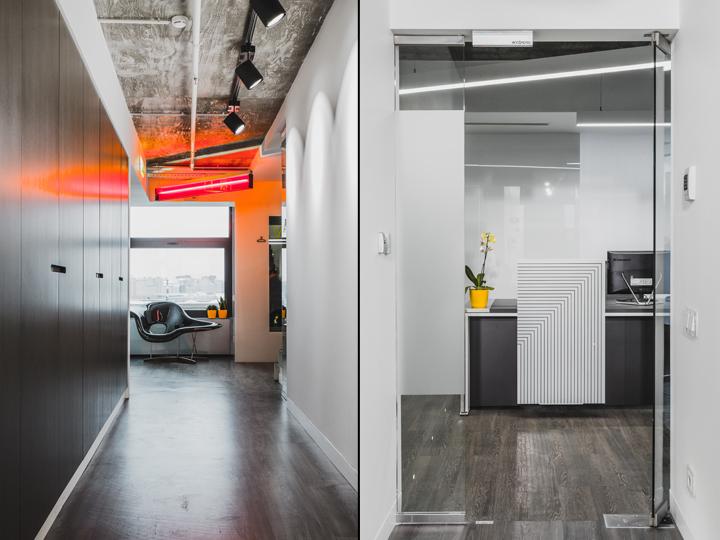 Современный минимализм и оригинальный промышленный стиль в дизайне современного офиса в Москве