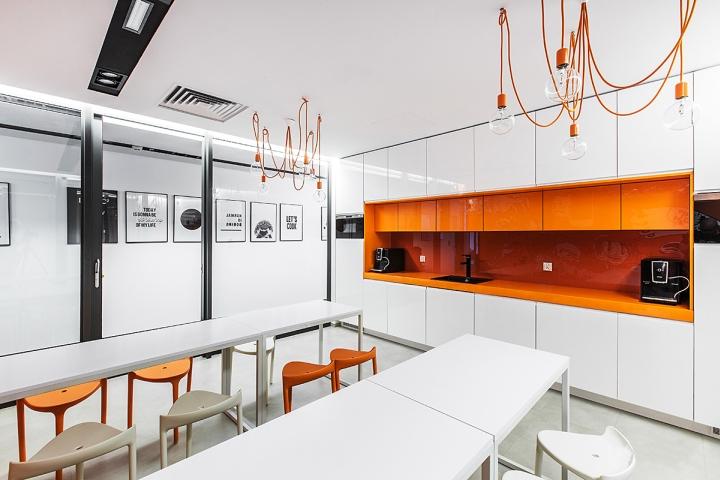 Современная мебель столовой для сотрудников