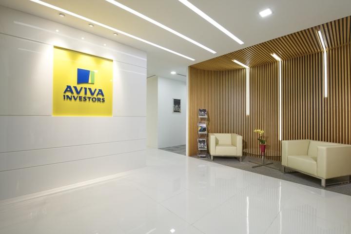Дизайн приемной офиса Aviva Investors