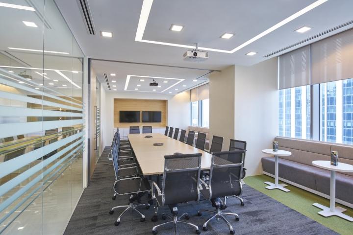 Естественное и искусственное освещение комнаты для переговоров