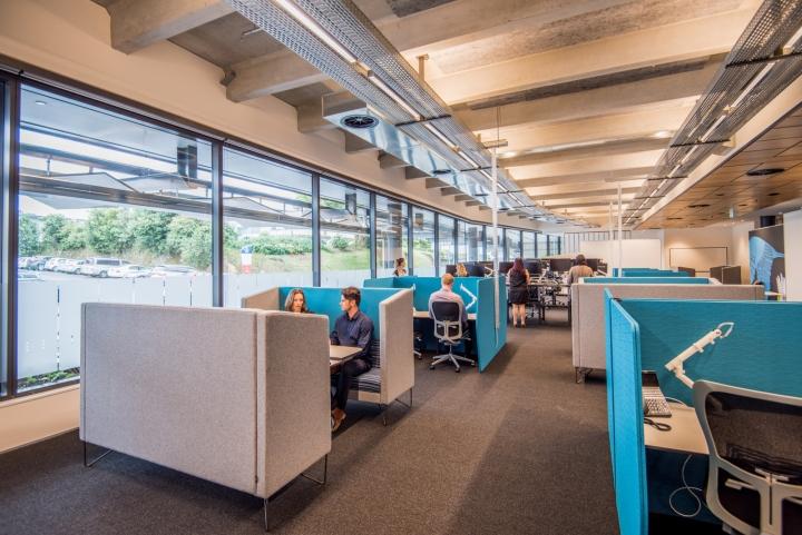 Офис для совместной работы компании Trustpower - яркие места для сотрудников