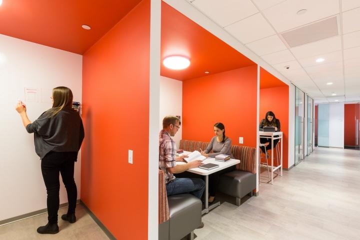 Офис издательства Macmillan, Нью-Йорк - открытое пространство офиса