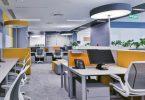 Офис с красивым интерьером корпорации General Electric