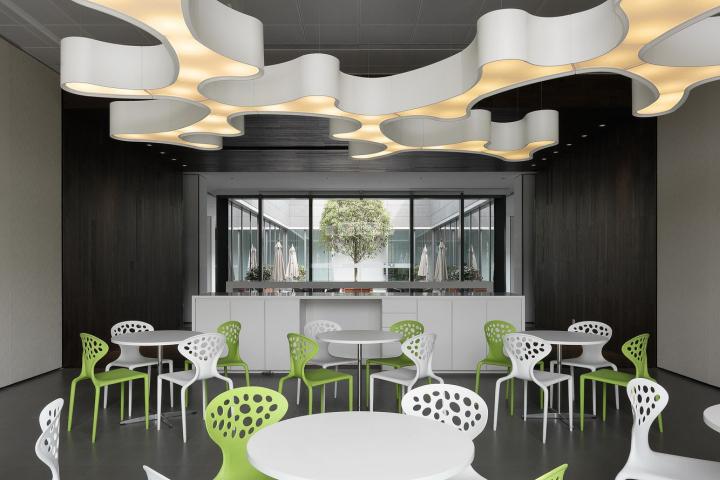Офис с красивым интерьером в Шанхае, Китай