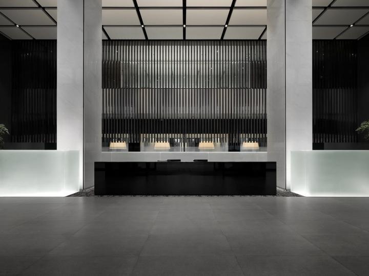 Офис с красивым интерьером в Шанхае, Китай: вид на офис. Фото 1