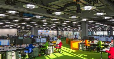 Офис с открытой планировкой в Лондоне