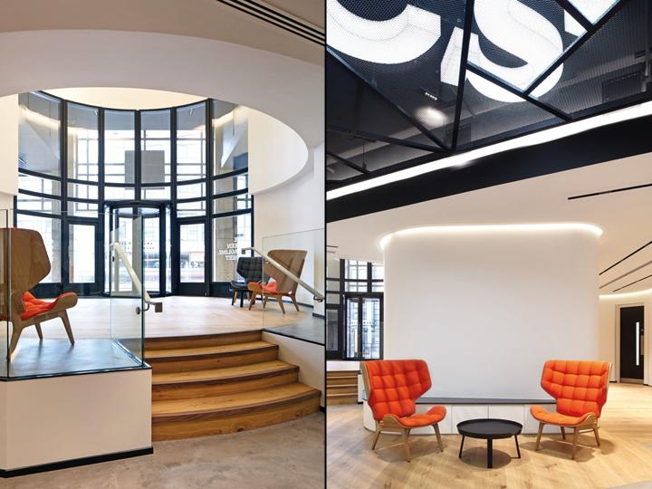 Офис с террасой в Великобритании: дизайн мебели
