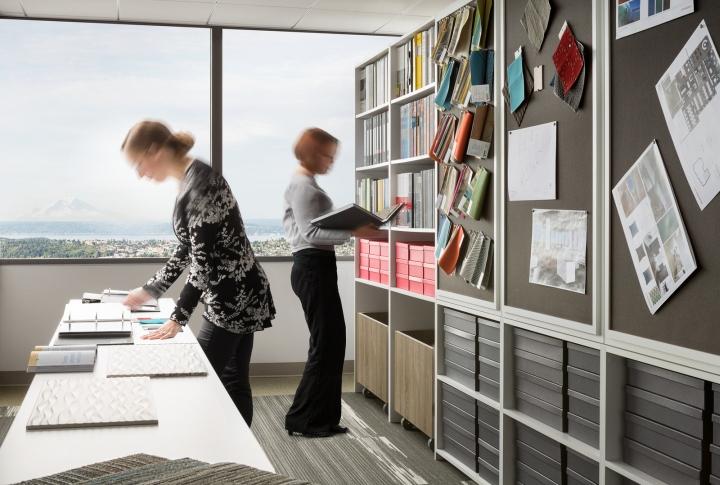Офис в небоскрёбе в США - единое рабочее пространство офиса