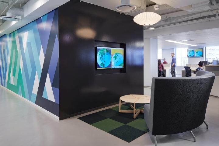 Офисный интерьер в Чикаго, Иллиноис: пространство для отдыха