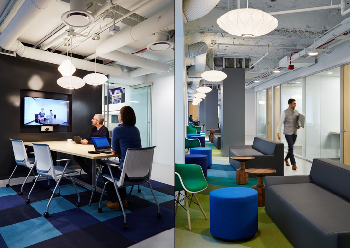 Офисный интерьер в Чикаго, Иллиноис:онлайн-переговоры