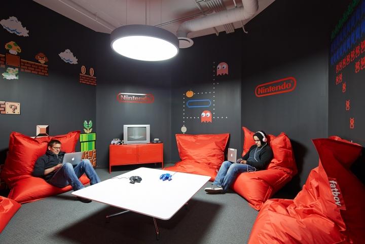 Офисный интерьер в Чикаго, Иллиноис: игровая зона