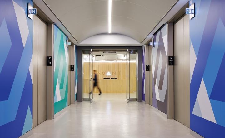 Офисный интерьер в Чикаго, Иллиноис: дизайн офиса компании Avant