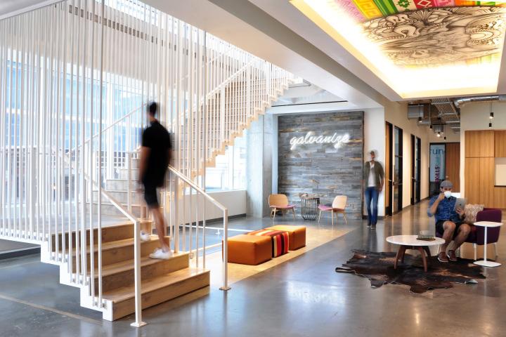 Офисы с красивым интерьером появляются по всему миру