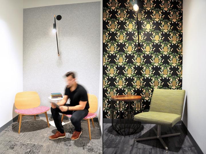 Офисы с красивым интерьером: уголок для чтения
