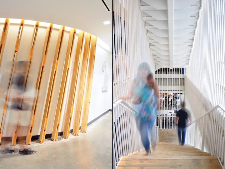 Офисы с красивым интерьером: монументальная лестница