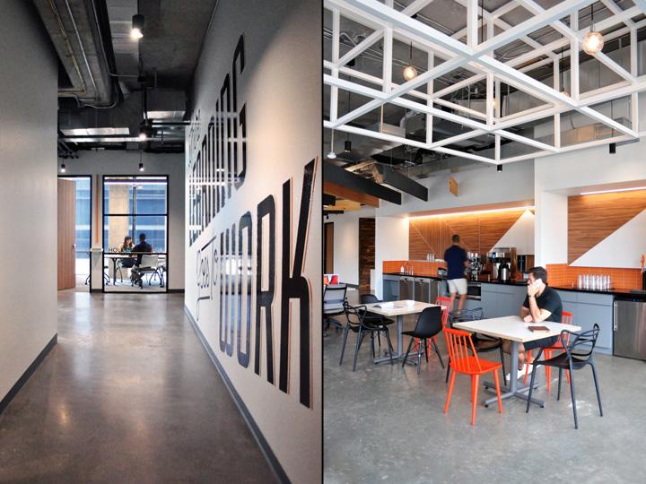 Офисы с красивым интерьером: промышленный стиль