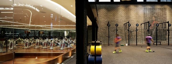 Оформление фитнес клуба: сочетание ретро и модерна