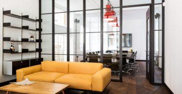 Оформление интерьера офиса от студии ThirdWay Interiors