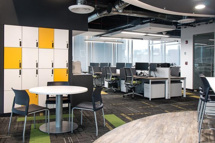 Стильное оформление интерьера офиса Panduit в Мексике. Фото 1