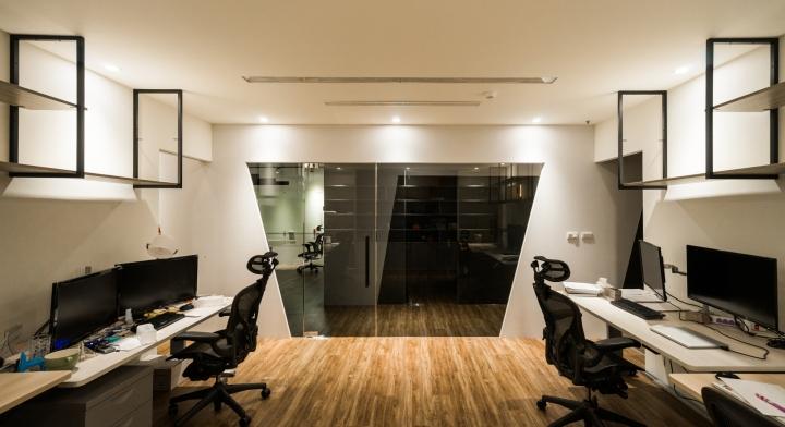 Уютное оформление интерьера офиса в Тайване: рабочая зона