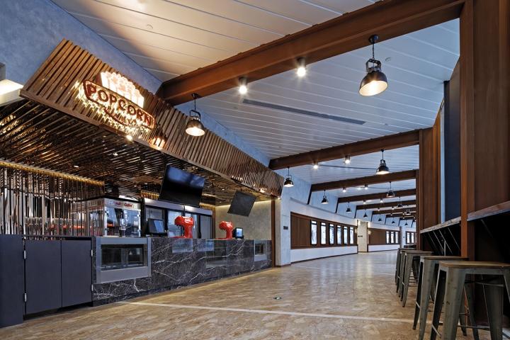 Оформление кинотеатра Palace Cinema в Китае: оформление местного кафе
