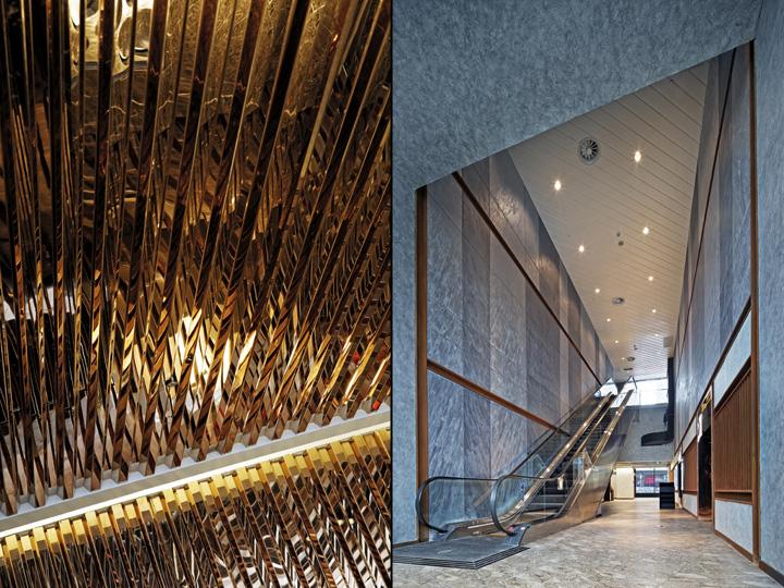 Оформление кинотеатра Palace Cinema в Китае: лестница