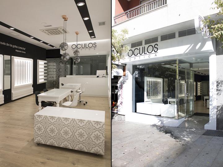 Оформление салона оптики в Виго - чёрно-белый интерьер магазина. Фото 4
