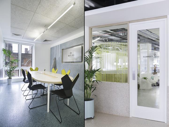 Организация рабочего пространства в офисе - дизайнерские стулья черного и желтого цвета