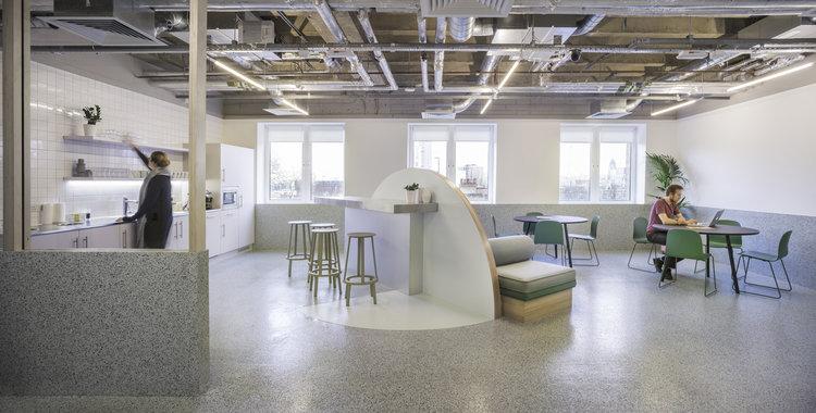 Организация рабочего пространства в офисе - чайная зона