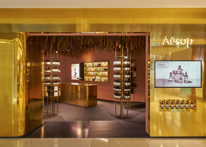 Оформление магазина натуральной косметики в Сингапуре - общий вид магазина