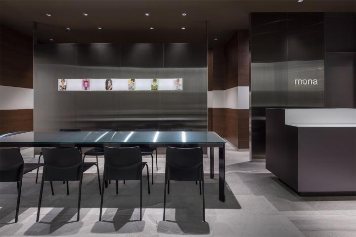 Оригинальный дизайн салона красоты. Интерьер зоны для обслуживания клиентов: всё предельно просто и в то же время стильно - фото 3