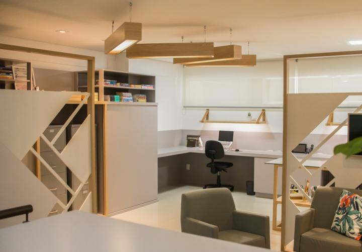 Отделка офиса деревом: уютный интерьер