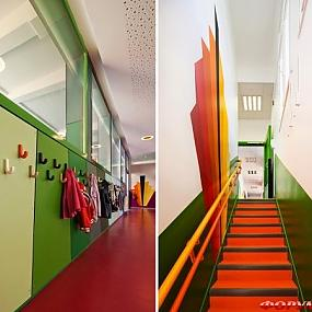 Интерьер в детском саду от дизайнеров студии Palatre & Leclere